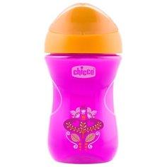 Поильник Chicco Easy Cup, 266 мл розовый/оранжевый
