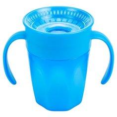 Чашка-непроливайка Cheers 360° с ручками, 200 мл синий Dr. Browns