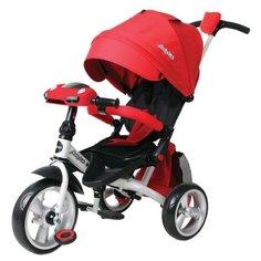 Трехколесный велосипед Moby Kids Leader 360° 12x10 EVA Car красный