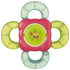 Прорезыватель-погремушка Happy Baby Teether rattle 20011 зеленый/розовый