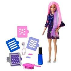 Кукла Barbie Цветной сюрприз с розовыми волосами, FHX00
