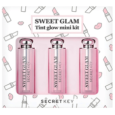 Secret Key Набор мини-тинтов для губ Sweet Glam Tint Glow Mini Kit, 02 funky pink/04 baby pink/05 juicy orange