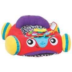 Интерактивная развивающая игрушка Playgro Музыкальный автомобиль красный/желтый/фиолетовый