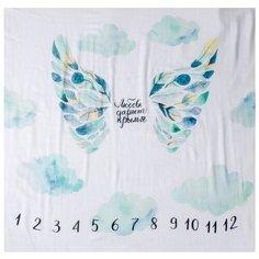Многоразовые пеленки MamSi Фотопеленка хлопок 120х120 С крыльями