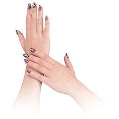 Накладные ногти Bristol Novelty Pirate Style черный/красный/белый 12 шт.