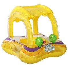 Надувные водные ходунки Intex Baby Float 56581 желтый/фиолетовый/зеленый