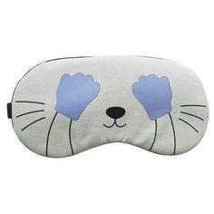 Маска для сна UVOO с охлаждающим гелем, светло-серый