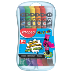 Maped Гуашь ColorPeps 12 цветов х 12 мл, с кистью (810520)