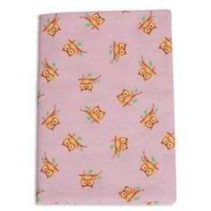 Многоразовые пеленки Чудо-Чадо Совушки фланель 120х90 розовый