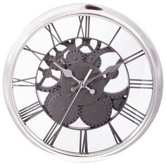 Часы настенные кварцевые Viron 222474 серебристый