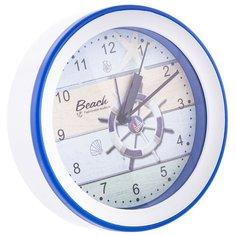 Часы настольные Русские подарки 60640-60641 белый/синий/штурвал