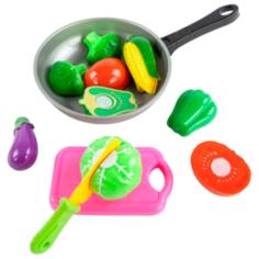 Набор продуктов с посудой Mary Poppins Овощи в сковороде 453045 серый/розовый/зеленый
