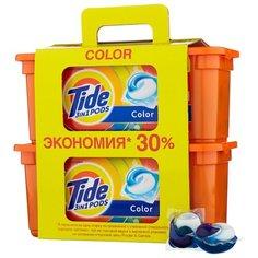 Капсулы Tide 3 in 1 Pods Color, пластиковый контейнер, 60 шт
