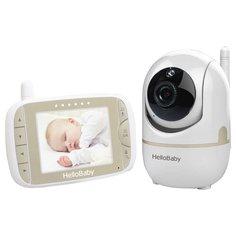 Видеоняня Hello Baby HB65 белый/бежевый/черный