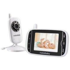 Видеоняня Hello Baby HB32 белый/черный