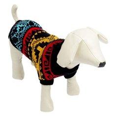 Свитер для собак Пижон размер 18 орнамент на черном