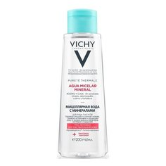 Vichy мицеллярная вода с минералами для чувствительной кожи, 200 мл