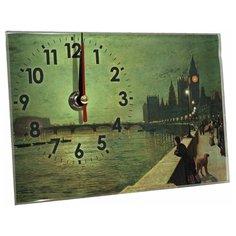 Часы настольные Идеал Светлая ночь зеленый/бежевый Ideal