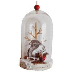 Школа талантов Набор для творчества Создай елочное украшение Белочка у дерева в колбе (4304508)