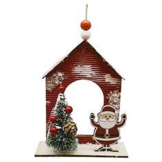 Школа талантов Набор для творчества Создай елочное украшение Дед мороз у дома с ёлкой (4304308)