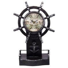 Часы настольные Русские подарки Штурвал черный