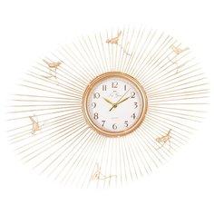 Часы настенные кварцевые La Geer 60806 золотистый