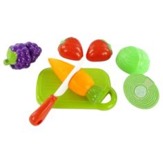 Набор продуктов с посудой Mary Poppins Овощи и фрукты 453044 зеленый/красный/желтый