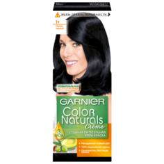 GARNIER Color Naturals стойкая питательная крем-краска для волос, 1+, Ультра черный