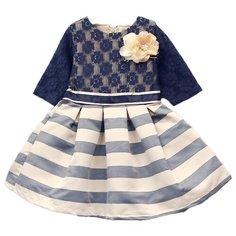 Платье Baby Rose размер 98, бежевый/синий