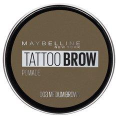 Maybelline Стойкая помада для бровей Tattoo Brow Pomade 03, коричневый
