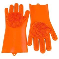 Щетка GESS Body SPA массажные перчатки, 2 шт. (GESS-692) оранжевый