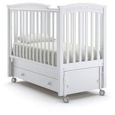 Кроватка Nuovita Perla Solo (качалка), продольный маятник белый