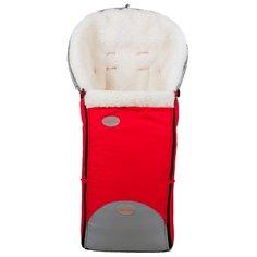Конверт-мешок Чудо-Чадо в коляску меховой Прайм 92 см красный