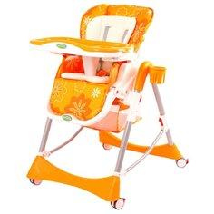 Стульчик-шезлонг BabyOne H1008 оранжевый
