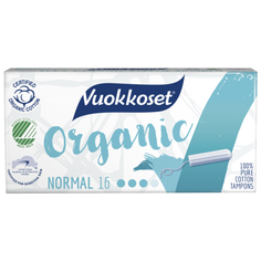 Vuokkoset тампоны Organic Normal 16 шт.