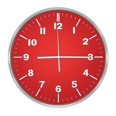 Часы настенные кварцевые CENTEK CT-7100 red