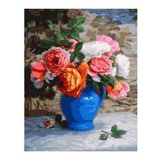 "ВанГогВоМне Картина по номерам ""Голубая ваза с цветами"", 40х50 см (ZX 22338)"