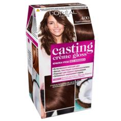 LOreal Paris Casting Creme Gloss стойкая краска-уход для волос, 400, Каштановый