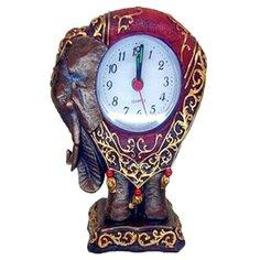 Часы настольные ELFF ceramics Слон в попоне коричневый