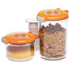 STATUS Набор вакуумных контейнеров VAC-RD-Round orange