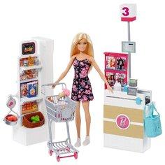 Набор Barbie В супермаркете, 28 см, FRP01