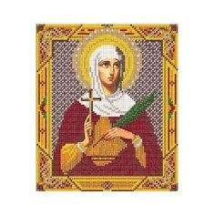 Канва для вышивания с рисунком NOVA SLOBODA Св. Татиана БИС-9029 19 х 22 см с рисунком
