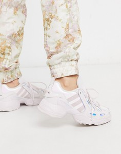 Розово-серебристые кроссовки с эффектом металлик adidas Originals EQT Gazelle-Мульти