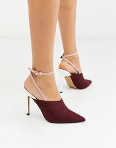 Туфли на высоком каблуке с острым носом ASOS DESIGN-Мульти