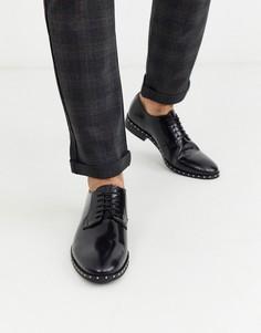 Лакированные кожаные туфли с заклепками на подошве Bolongaro Trevor-Черный