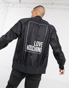Олимпийка с логотипом Love Moschino-Черный