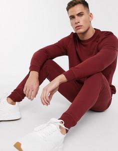 Бордовый спортивный костюм ASOS DESIGN-Красный