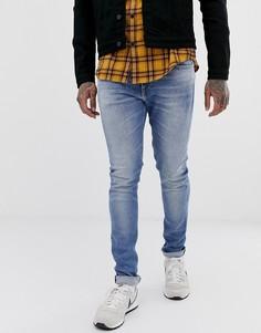 Светлые эластичные джинсы скинни Replay-Синий