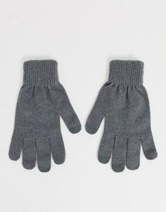 Серые перчатки для сенсорных гаджетов ASOS DESIGN-Серый