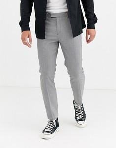 Облегающие монохромные брюки в клетку черного цвета River Island-Черный